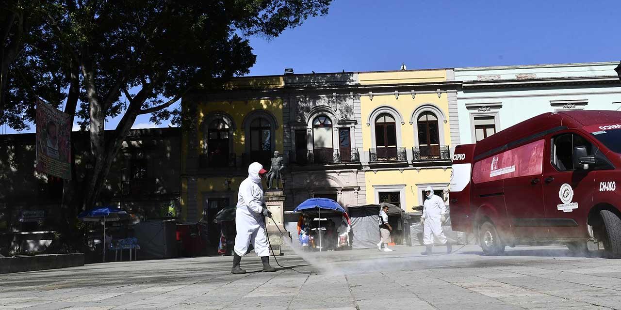 Sanitizan periferia de feria 'ilegal'   El Imparcial de Oaxaca