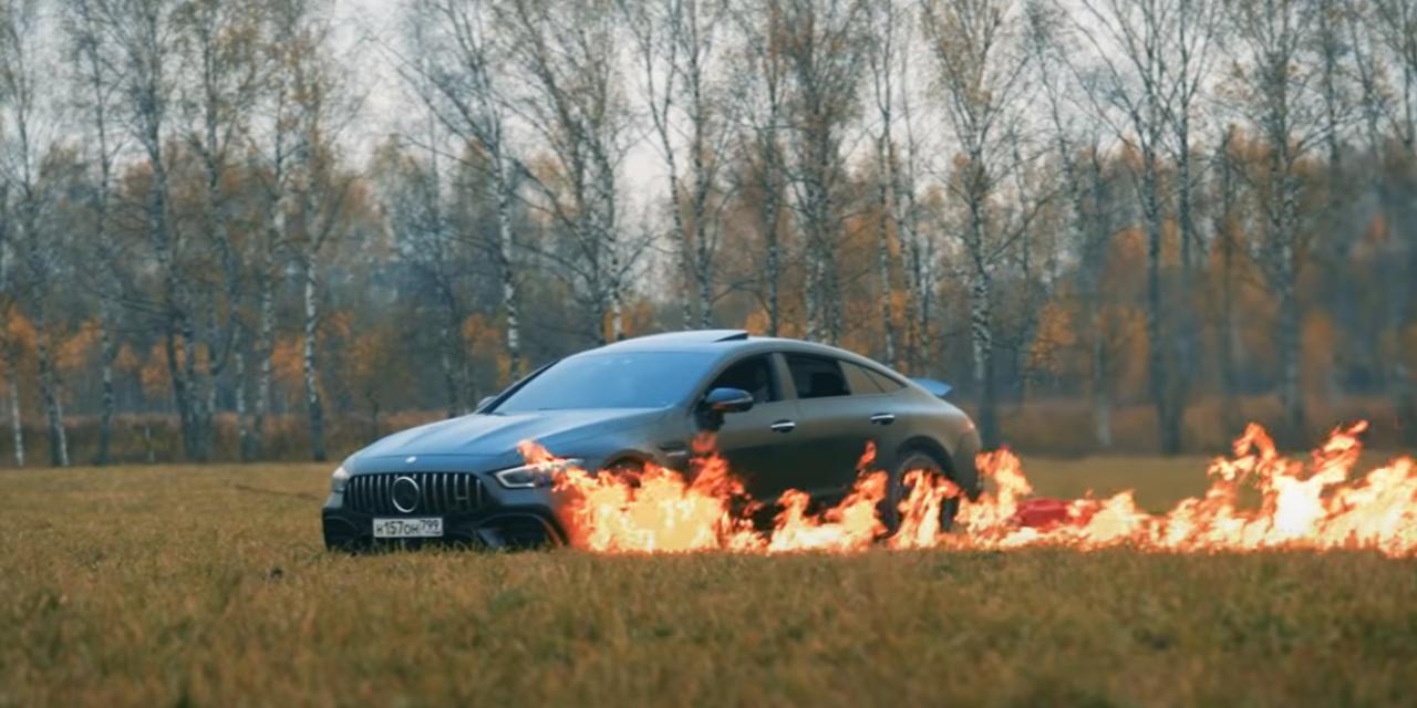 Video: Quema su Mercedes GT635 de tres millones de pesos | El Imparcial de Oaxaca
