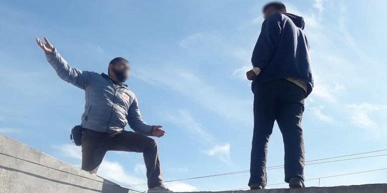 Bombero salva a un hombre del suicidio en Santa Lucía del Camino