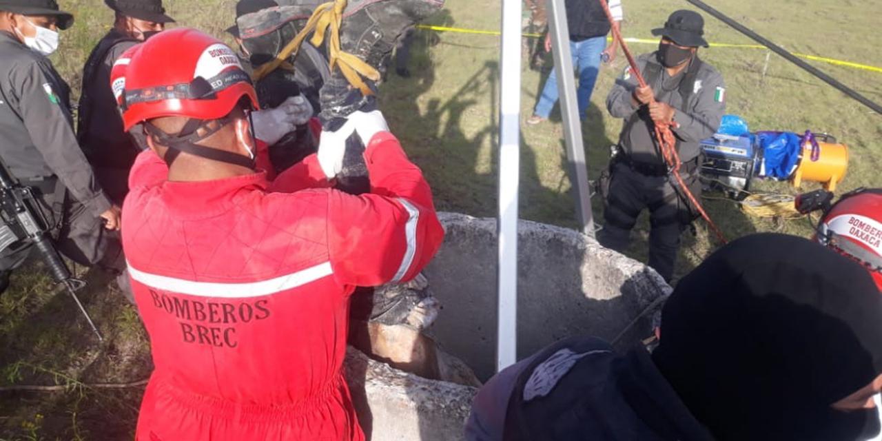 Hallan cadáver de un hombre en descomposición en un pozo de La Mixteca