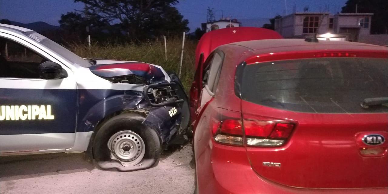 Conductor ebrio choca con patrulla en Jalpan | El Imparcial de Oaxaca