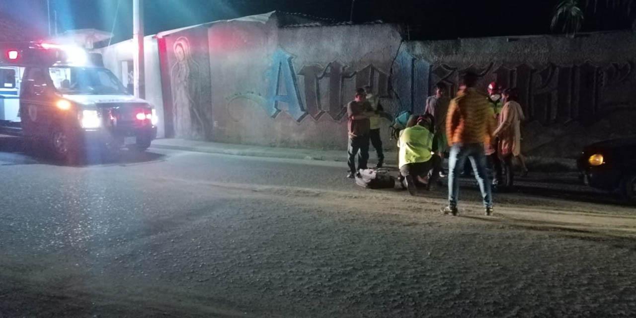 Perro les hace caer de la moto en Volcanes | El Imparcial de Oaxaca