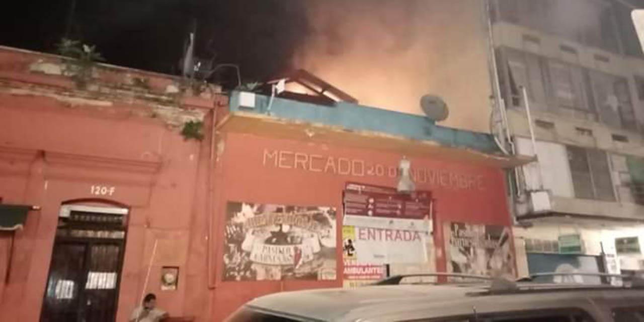 Arde el Mercado 20 de Noviembre