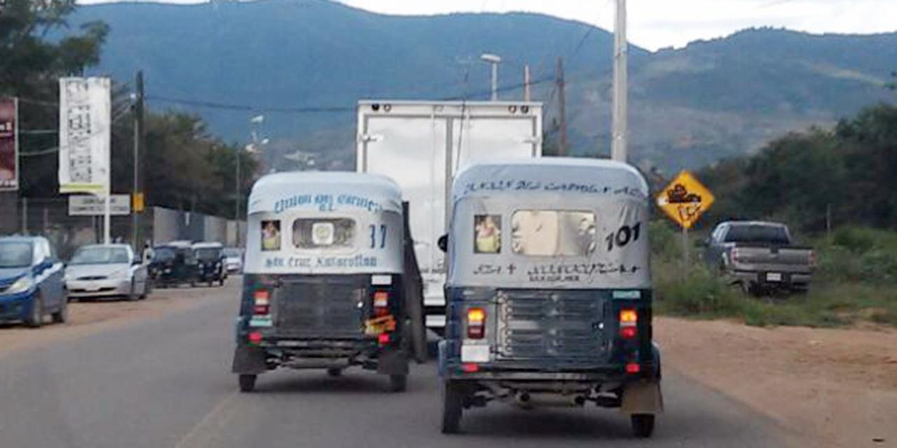 Semovi saca de circulación a 8 mil mototaxis de Oaxaca