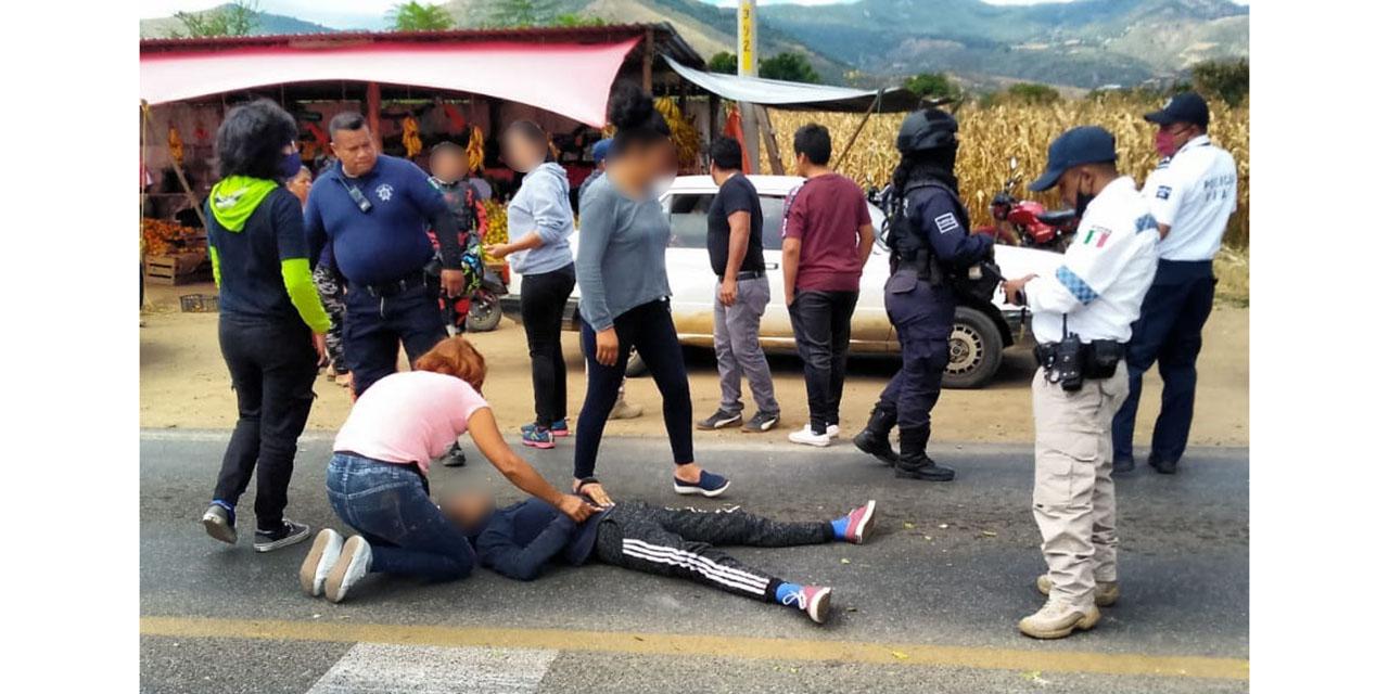 Motociclista resulta gravemente lesionado en accidente rumbo a Sola de Vega
