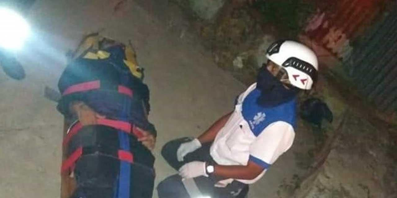 Motociclista derrapa en carretera antigua al Fortín