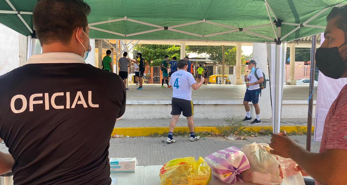 En el Istmo, realizan torneo de futbol rápido para recabar víveres