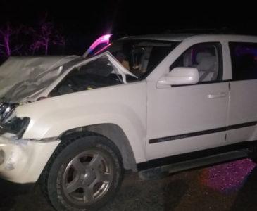 Choca contra vaca en carretera a Tehuantepec y sale ilseo