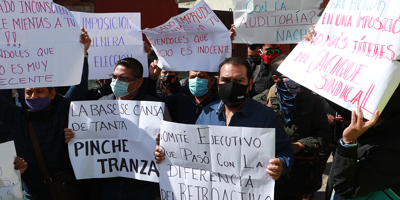 Trabajadores acusan imposición en STPEIDCEO