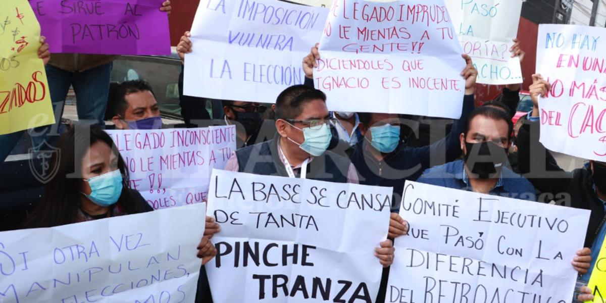 Burócratas acusan imposición en el STPEIDCEO