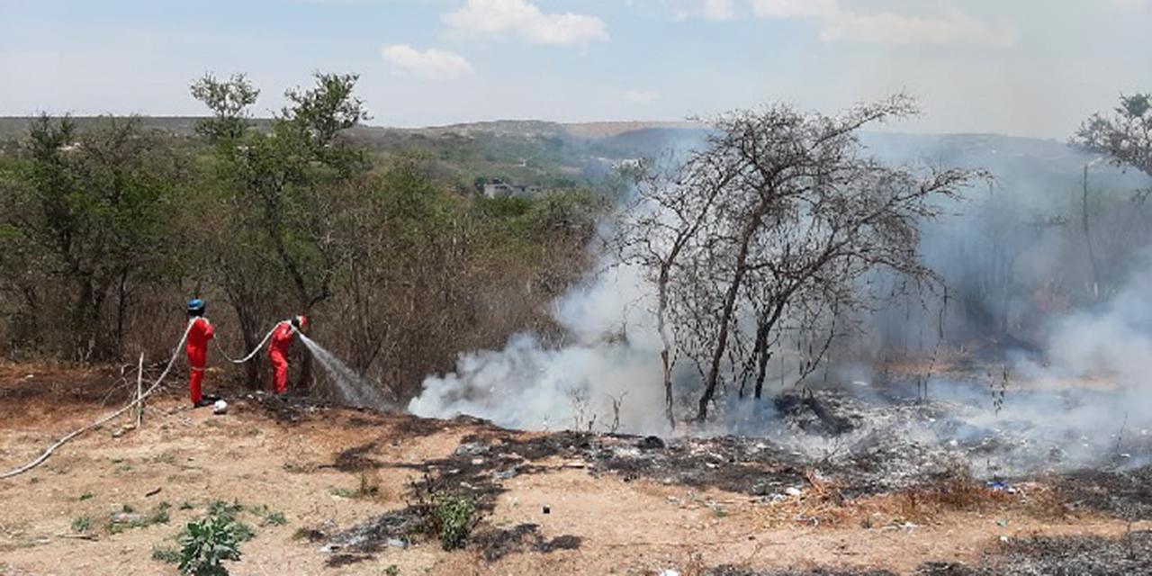 Protección civil de Huajuapan pide evitar incendios en limpia de terrenos