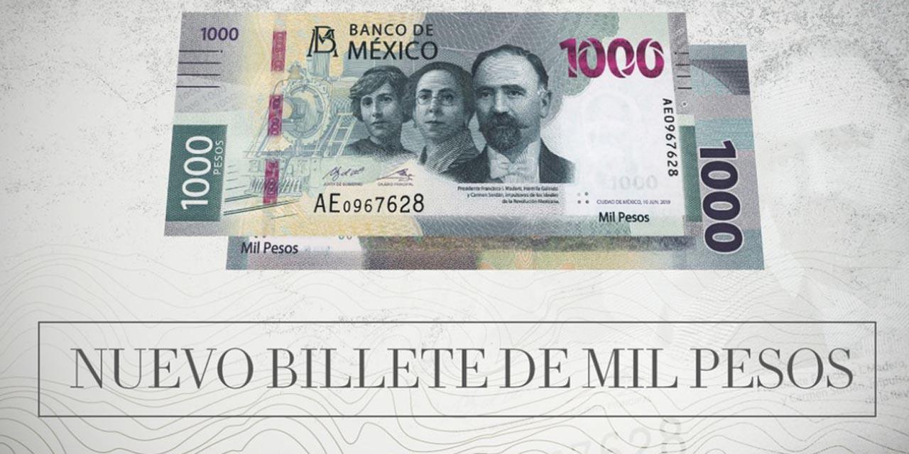 Banxico presenta el nuevo billete de mil pesos en el marco del 110 aniversario de la Revolución Mexicana | El Imparcial de Oaxaca