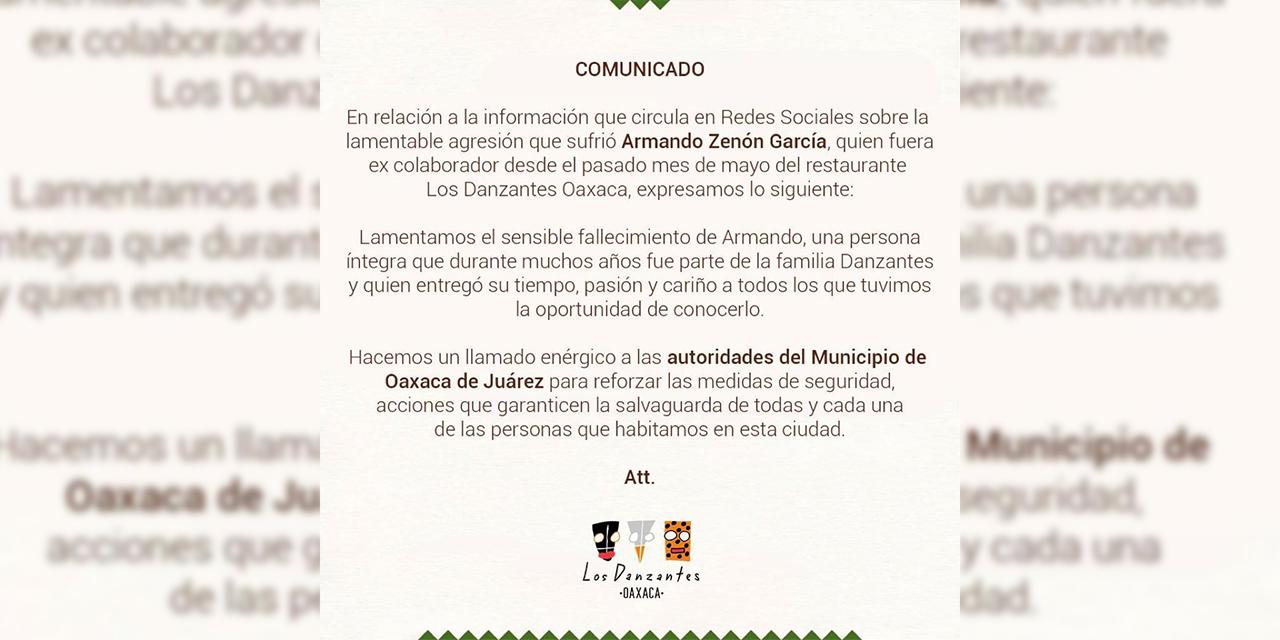 Hacen llamado enérgico al municipio de Oaxaca de Juárez para reforzar seguridad | El Imparcial de Oaxaca