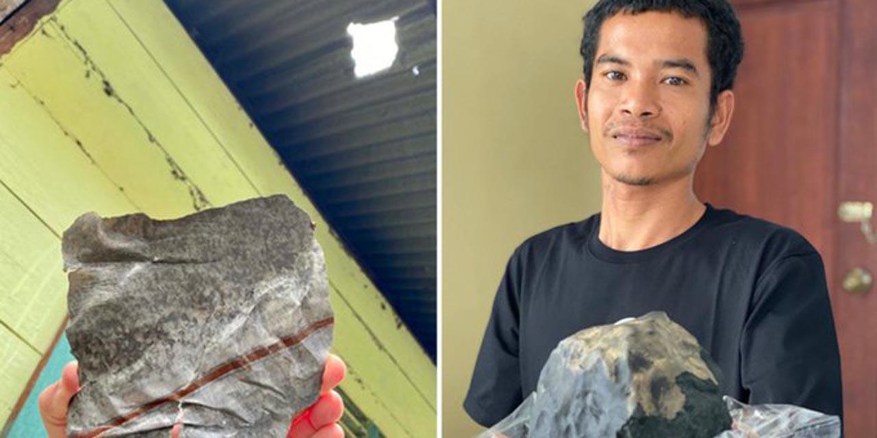 Cae meteorito en su casa; lo vende y lo estafan | El Imparcial de Oaxaca