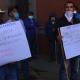 Llega otra manifestación en Casa Oficial