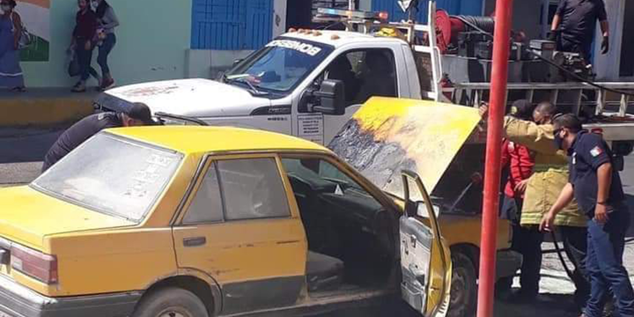 Arde en llamas unidad de motor en Salina Cruz | El Imparcial de Oaxaca
