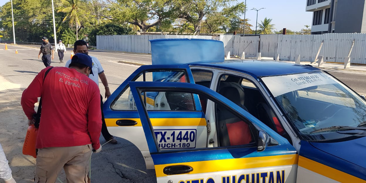 Aplican protocolo de limpieza para el transporte público en El Espinal | El Imparcial de Oaxaca