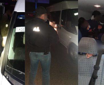 Detienen camioneta con migrantes en Oaxaca