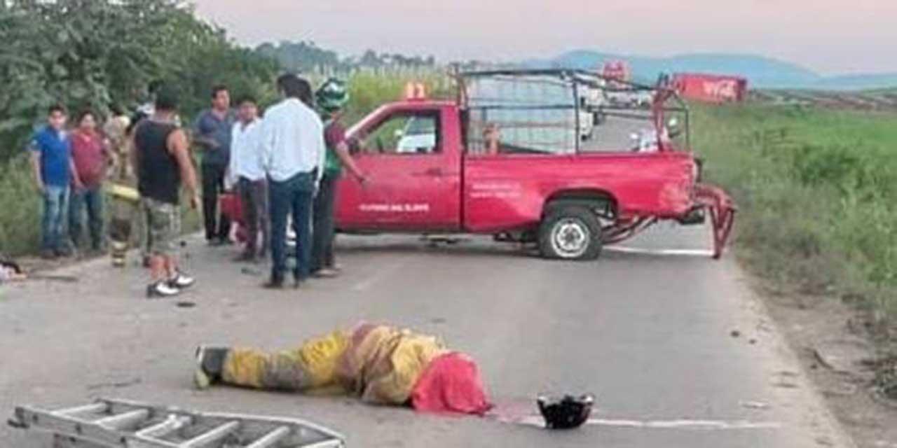 Vuelca camioneta de bomberos en carretera de Tuxtepec; uno de ellos murió   El Imparcial de Oaxaca