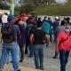Trabajadores subcontratados por PEMEX protestan en la refinería de Salina Cruz