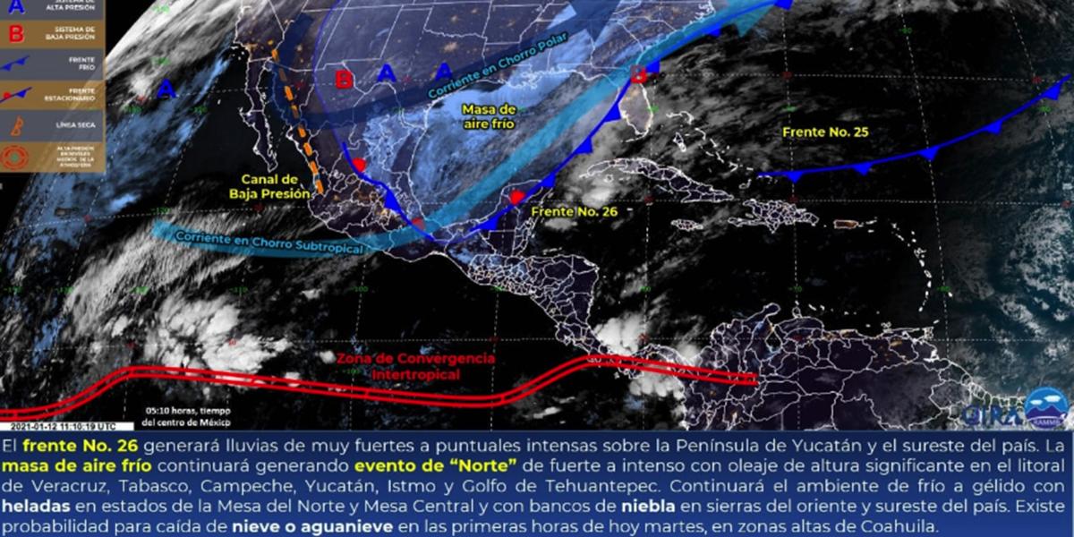 Pronostican bajas temperaturas, evento de Norte y lluvias muy fuertes en Oaxaca | El Imparcial de Oaxaca