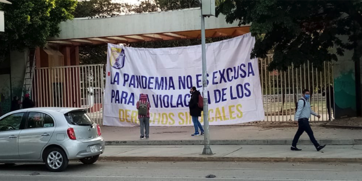 Integrantes del STEUABJO protestan en Ciudad Universitaria   El Imparcial de Oaxaca