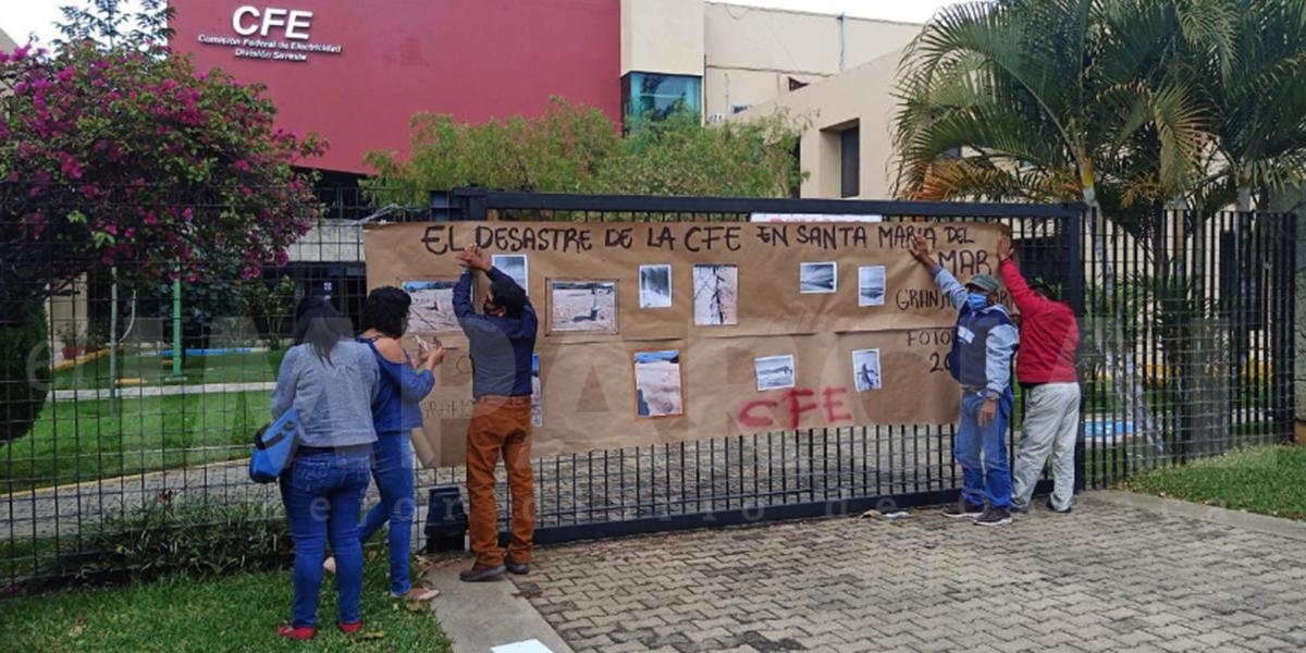 Autoridades de Santa María del Mar protestan en oficinas de CFE | El Imparcial de Oaxaca