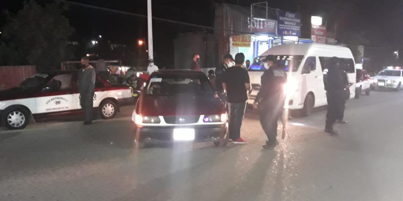 Ebrio taxista provoca colisión en Villa de Etla | El Imparcial de Oaxaca