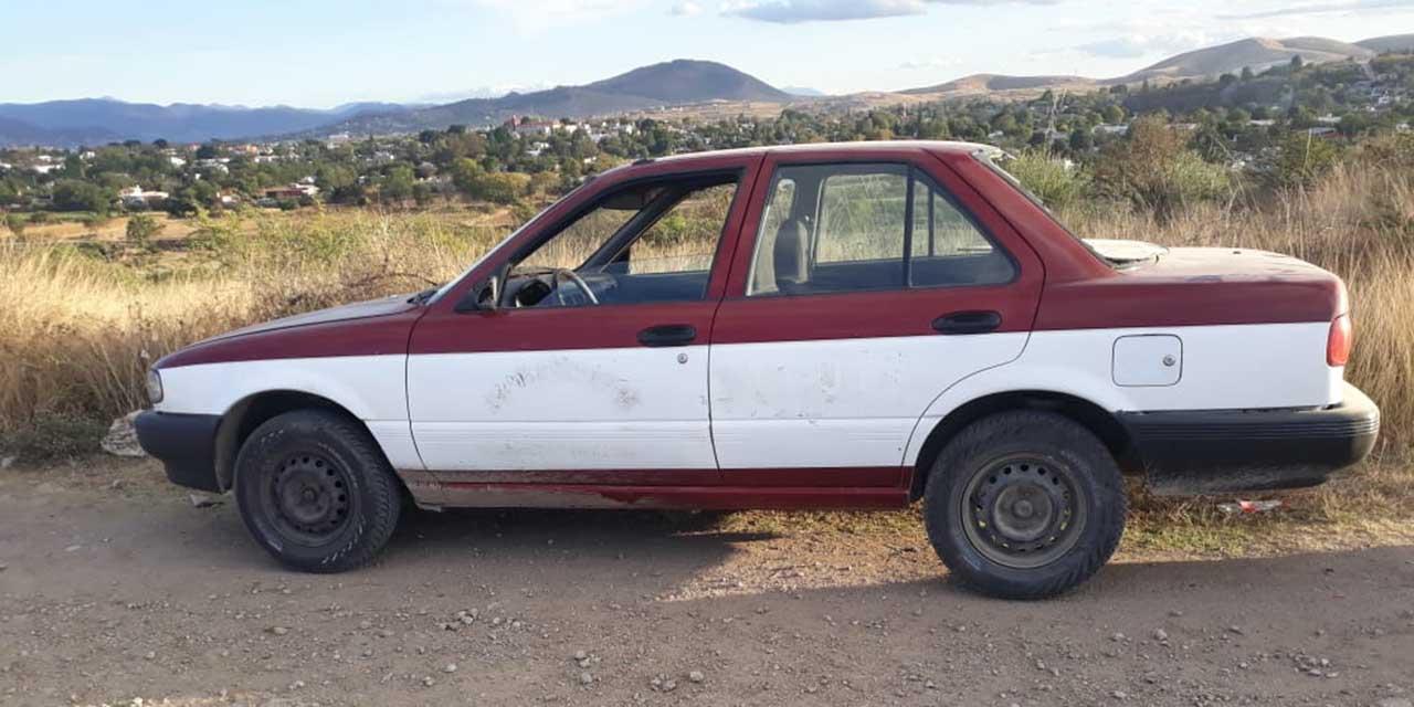 Localizan taxi abandonado en San Lorenzo Cacaotepec   El Imparcial de Oaxaca
