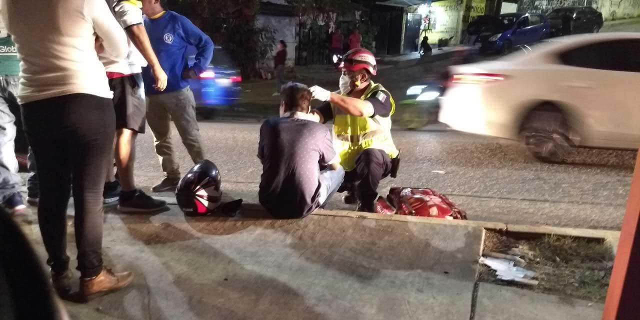 Motociclista derrapa violentamente en San Juanito | El Imparcial de Oaxaca