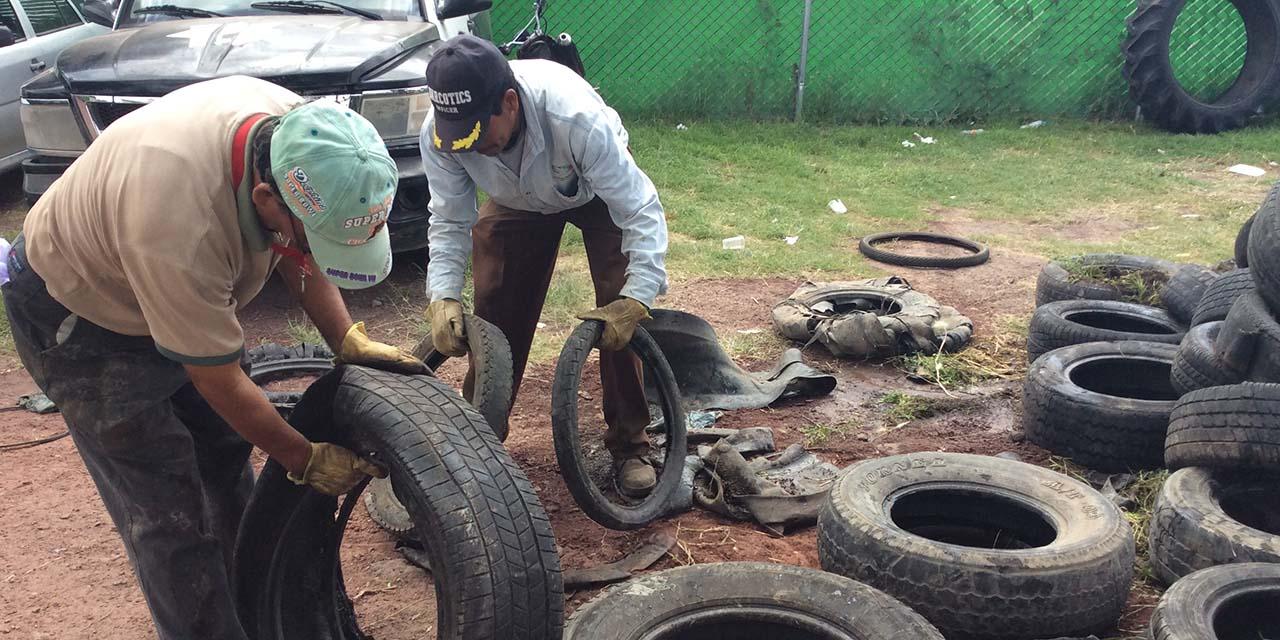 Reciclan llantas para evitar Dengue, Zika y Chikungunya en municipios de la Costa | El Imparcial de Oaxaca