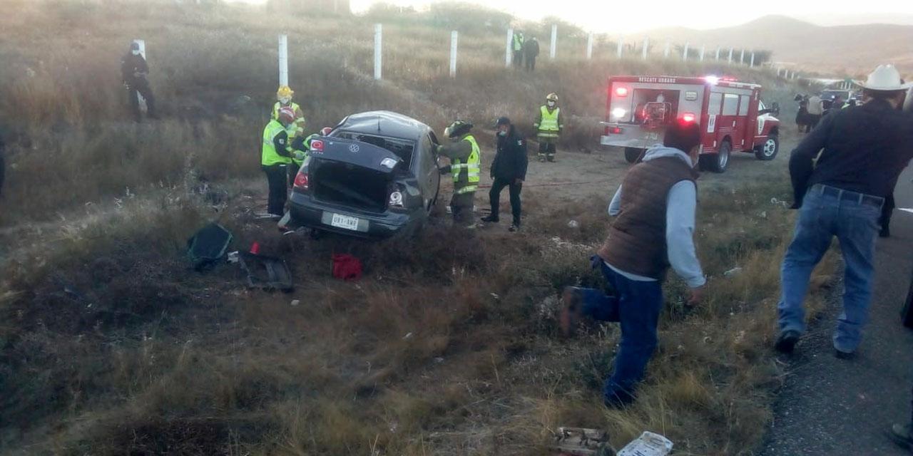 Queda prensado en aparatoso accidente en libramiento a Ocotlán