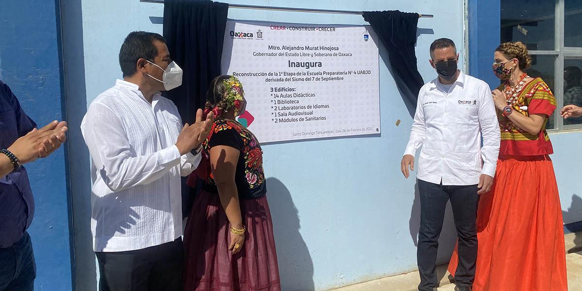 Se concluye la primera etapa de reconstrucción de la prepa 4 de la UABJO | El Imparcial de Oaxaca