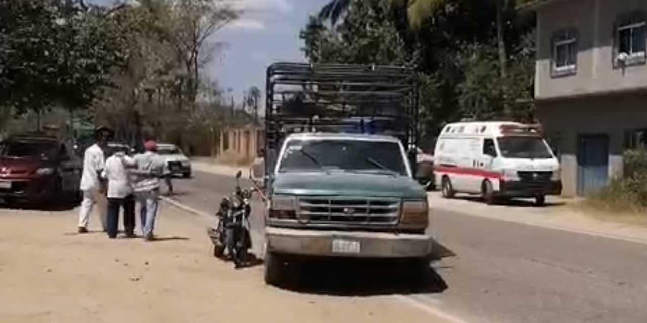 Motociclista sale lesionado tras colisión en Huaxpaltepec | El Imparcial de Oaxaca