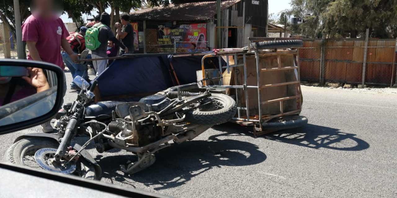Vuelca mototaxi en la colonia Guadalupana | El Imparcial de Oaxaca