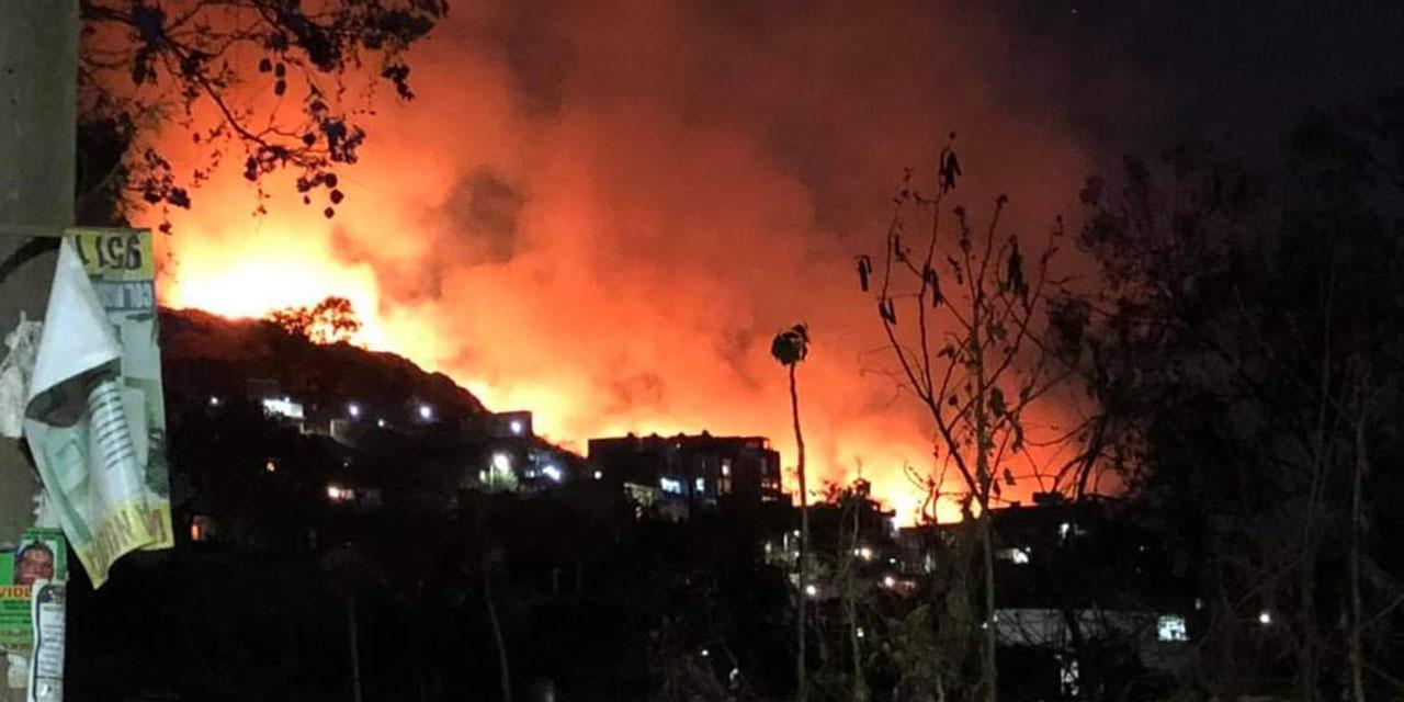 ¡Se incendia el Cerro del Crestón!   El Imparcial de Oaxaca