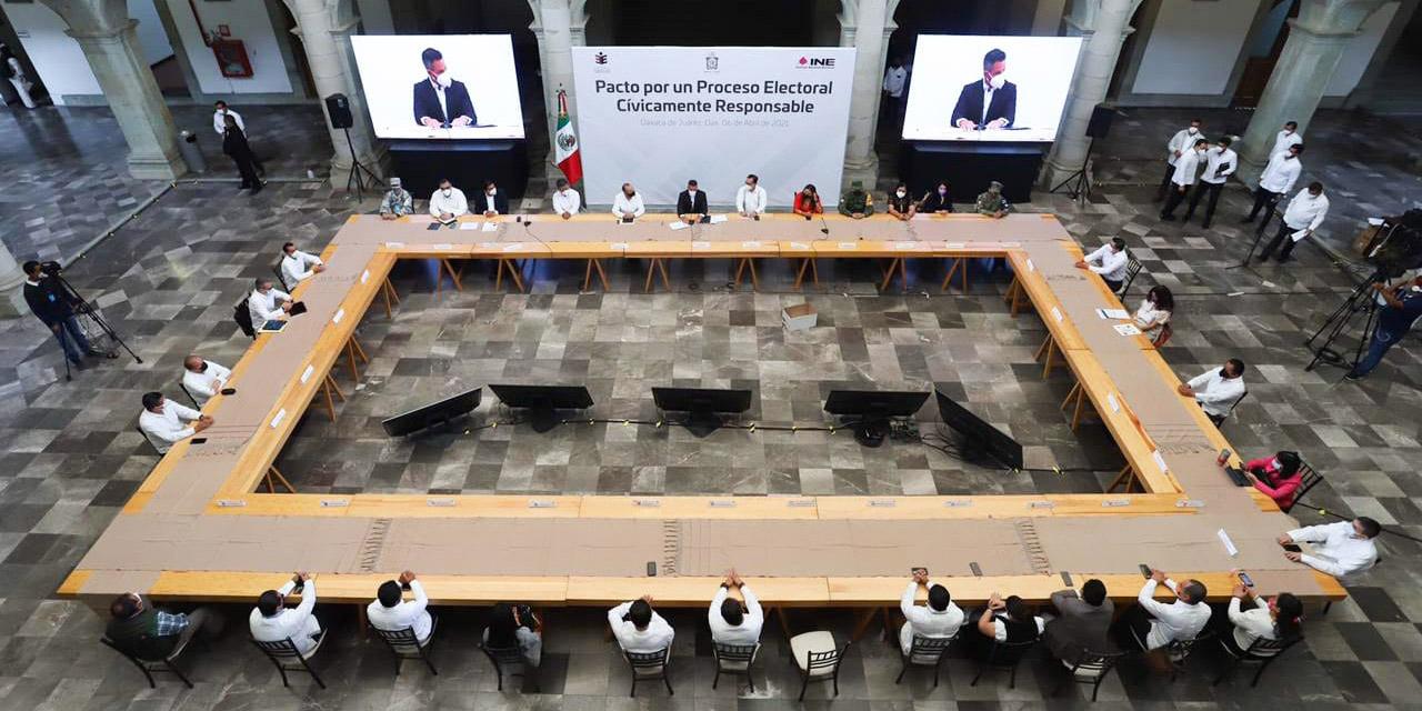 Firman pacto de civilidad para elecciones seguras | El Imparcial de Oaxaca