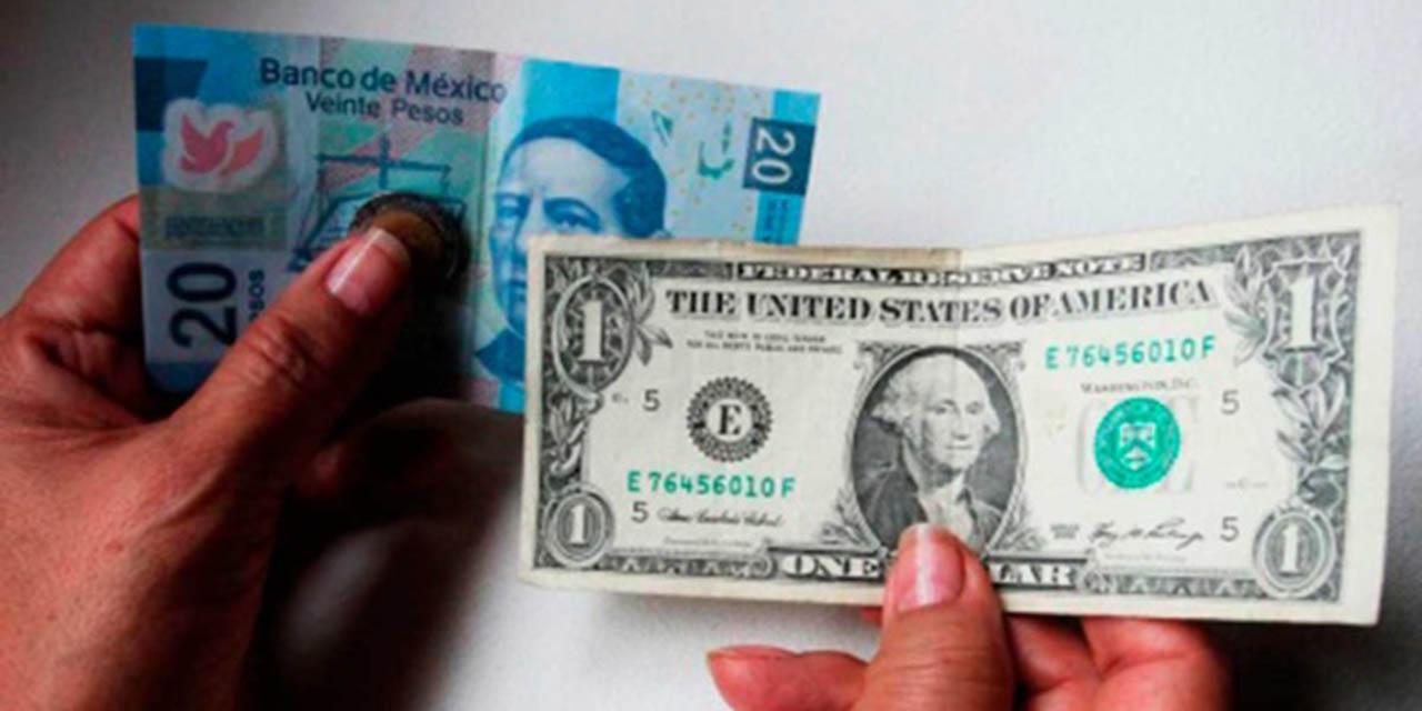 Pierde el peso, pero se mantiene debajo de 20 pesos por dólar | El Imparcial de Oaxaca