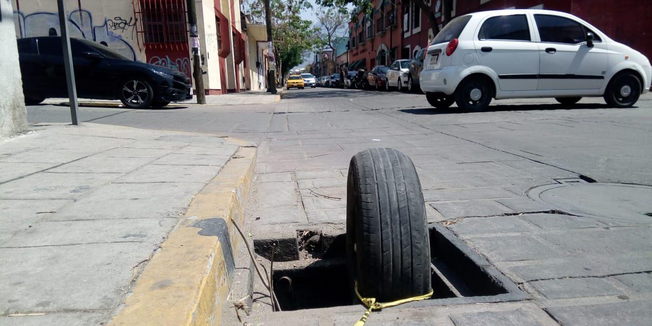 Registros sin tapas representan un riesgo en para la ciudadanía en Oaxaca   El Imparcial de Oaxaca