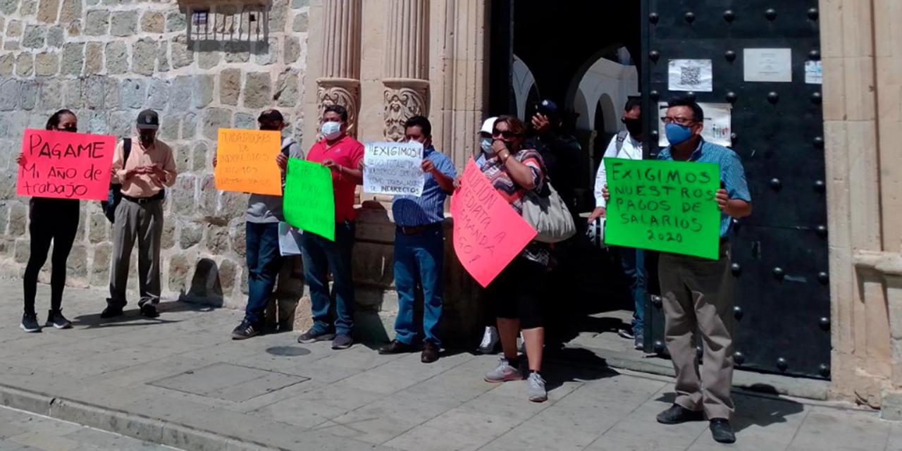 Ex empleados municipales demandan sus pagos | El Imparcial de Oaxaca