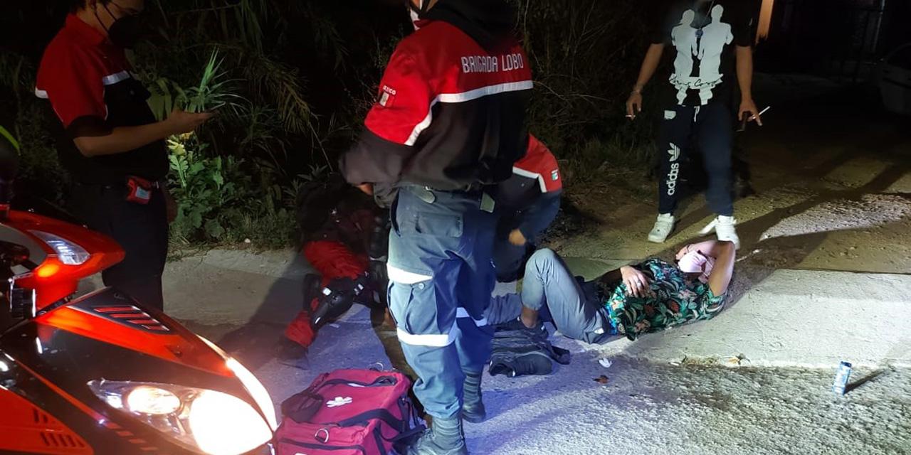 Joven motociclista derrapa y se lesiona | El Imparcial de Oaxaca
