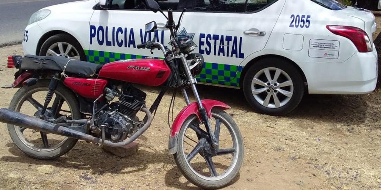 ¡Cae con moto robada! | El Imparcial de Oaxaca