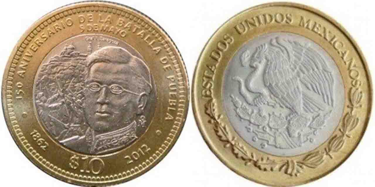 La moneda de 10 pesos de la Batalla de Puebla se vende hasta en 15 mil pesos   El Imparcial de Oaxaca