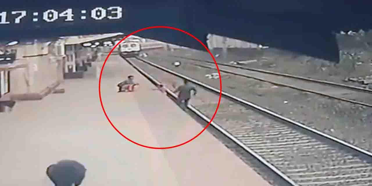 Video: Hombre salva a niño de ser arrollado por un tren   El Imparcial de Oaxaca
