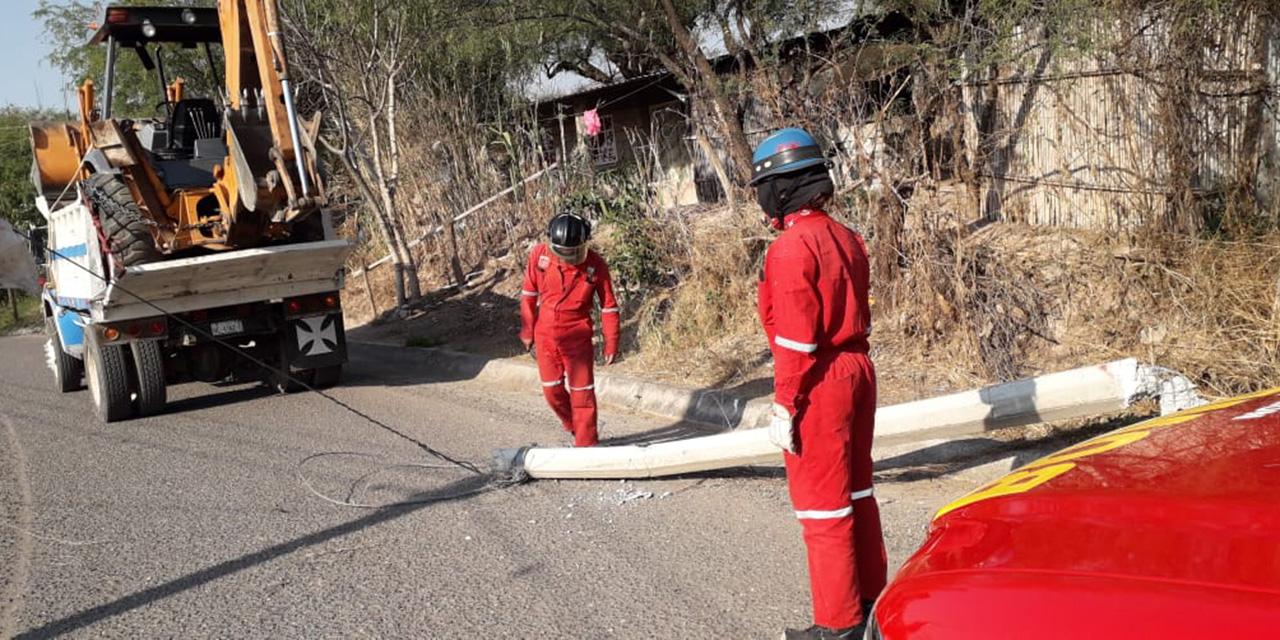 Volteo arranca poste de energía eléctrica en Huajuapan | El Imparcial de Oaxaca