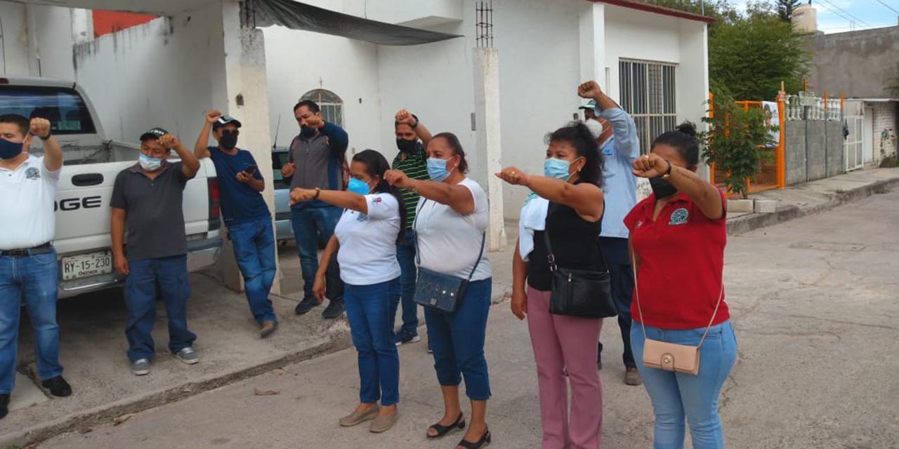 Protestan telefonistas en la SCT de Huajuapan | El Imparcial de Oaxaca