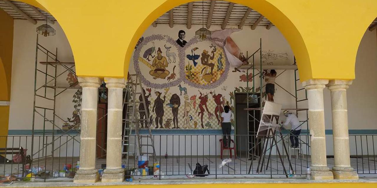 Yucatán y Oaxaca unidos en mural de Shinzaburo Takeda | El Imparcial de Oaxaca