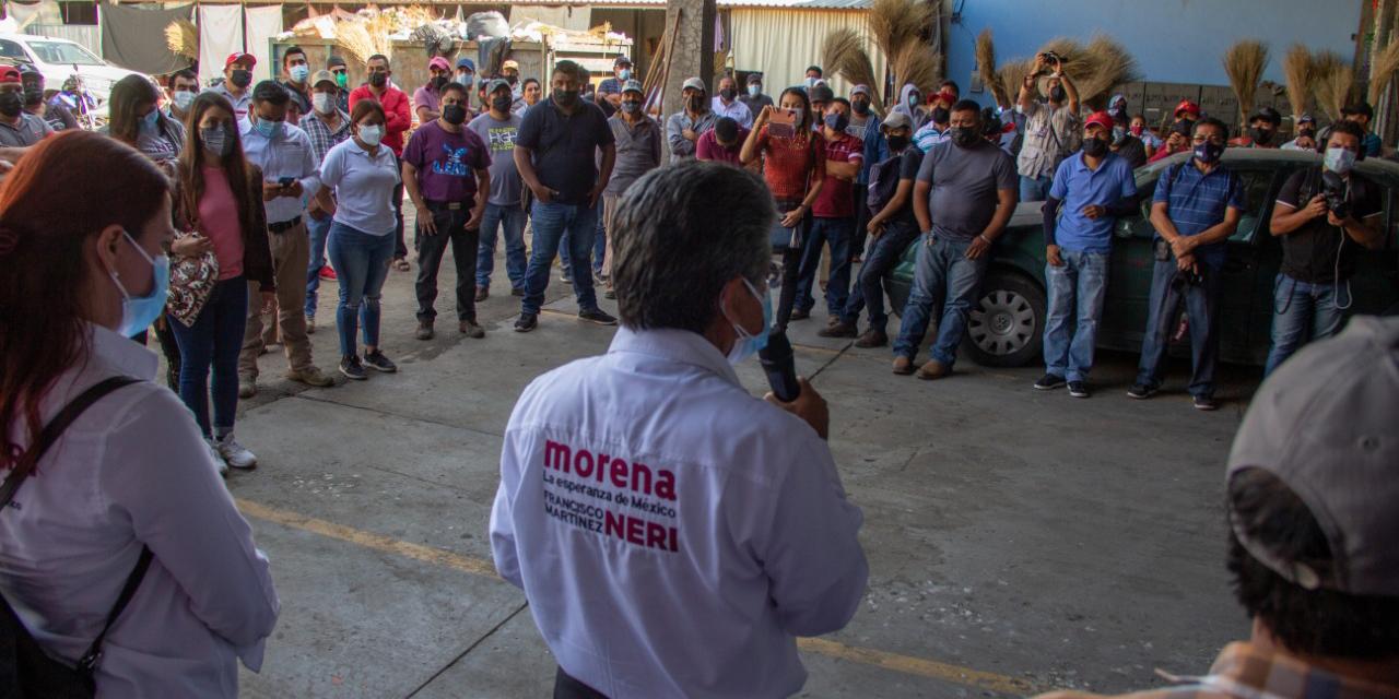 Trabajadores respaldan a candidato de Morena | El Imparcial de Oaxaca