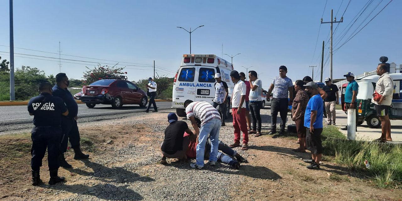 Se accidenta en moto y resulta malherido en Tehuantepec | El Imparcial de Oaxaca