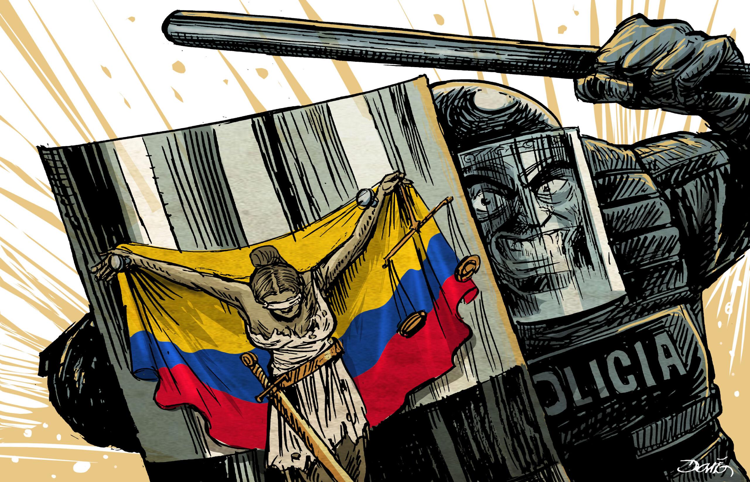 Represión en Colombia   El Imparcial de Oaxaca